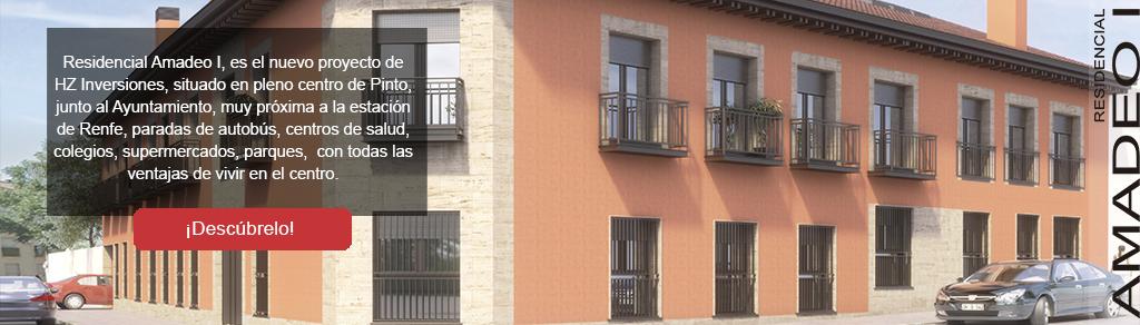 promoción de pisos de nueva construcción Amadeo I en Pinto